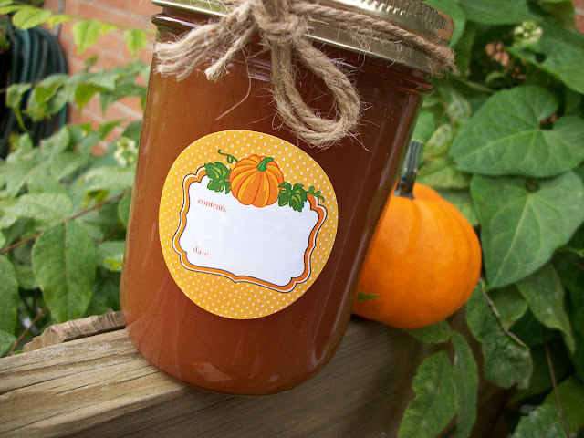 pumpkin canning label