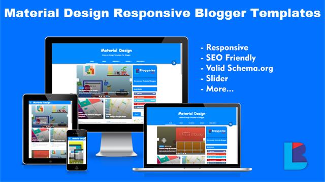 Material Design Responsive Blogger Template Free Download