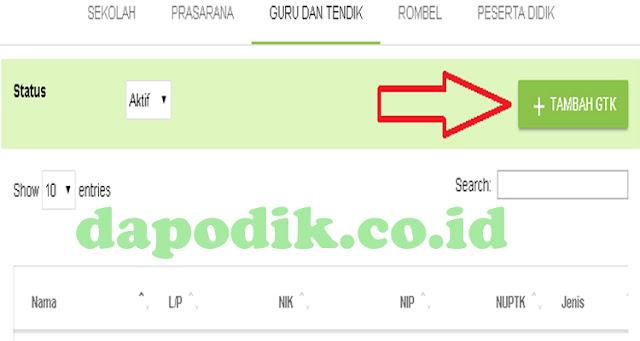 Tarik PTK Online Dapodik Versi Terbaru, Inilah Langkah-Langkahnya