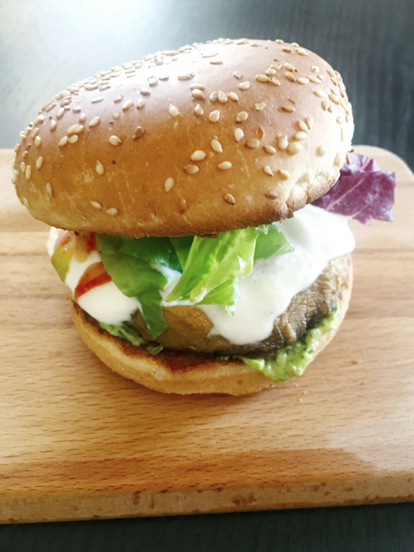 Mushroom Burgers with avocado sauce| Ioanna's Notebook
