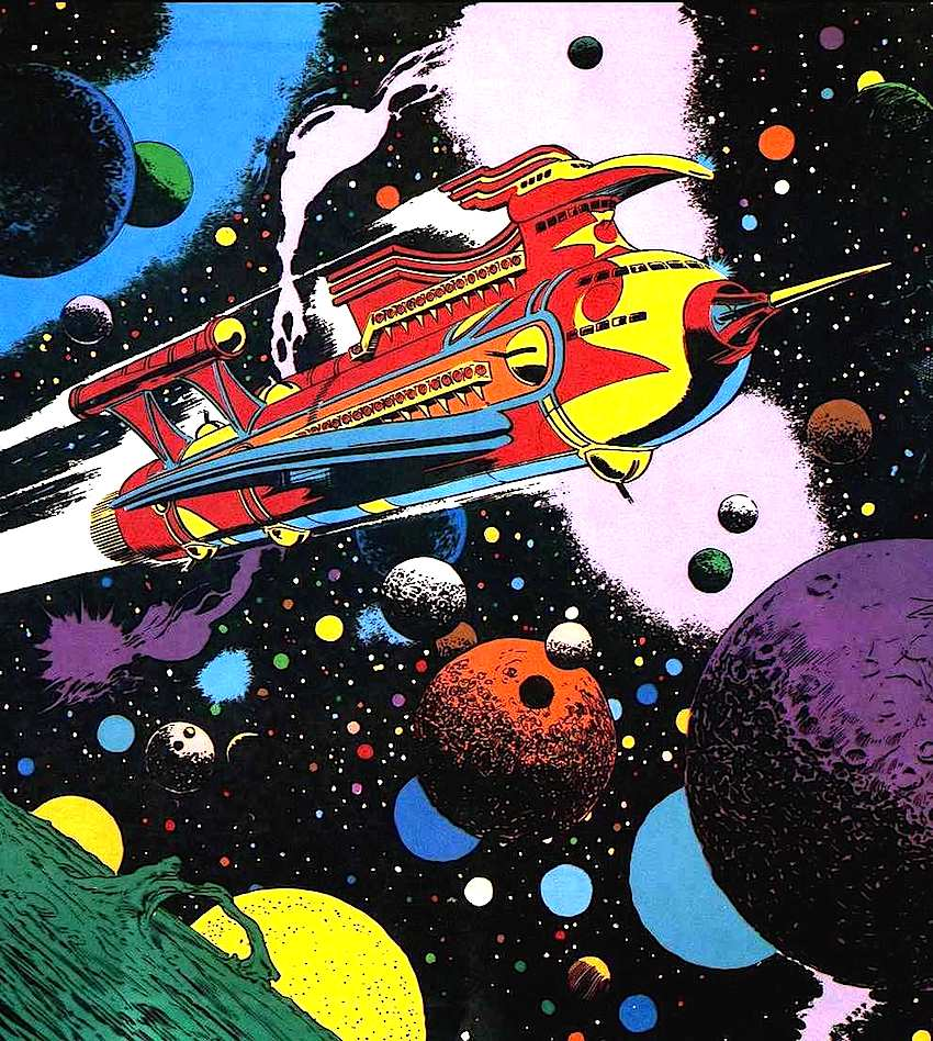 Al Williamson comic book art spaceship