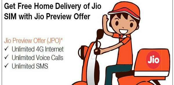 Reliance Jio 4G Sim Cards Free Home Delivery