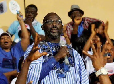 Liberia President elect and ex - international football star