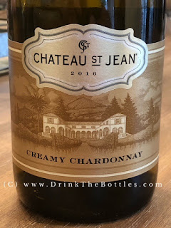 2016 Chateau St Jean Creamy California Chardonnay Label