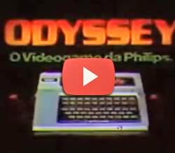 Propaganda de lançamento do video game Odyssey da Philips.