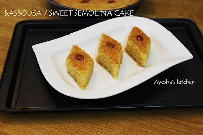 basbousa basboosa recipe semolina cake recipe simple semolina recipe deserts recipes