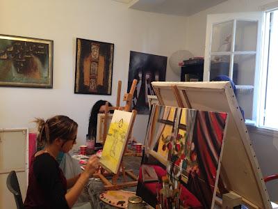Les retrouvailles des artistes de l'atelier Artemisia 9