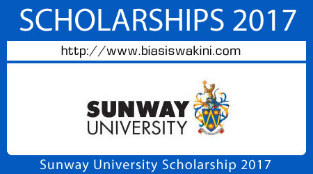 Sunway University Scholarship 2017