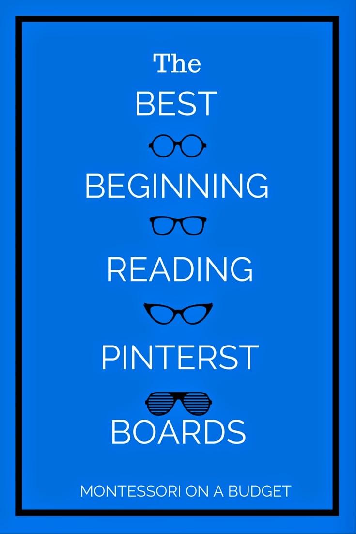 The Best Beginning Reading Pintetest Boards {Montessori on a Budget} #Montessori