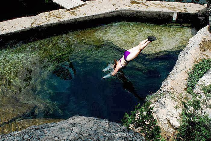 Jacob S Well Natural Area In Wimberley Texas Stock Image