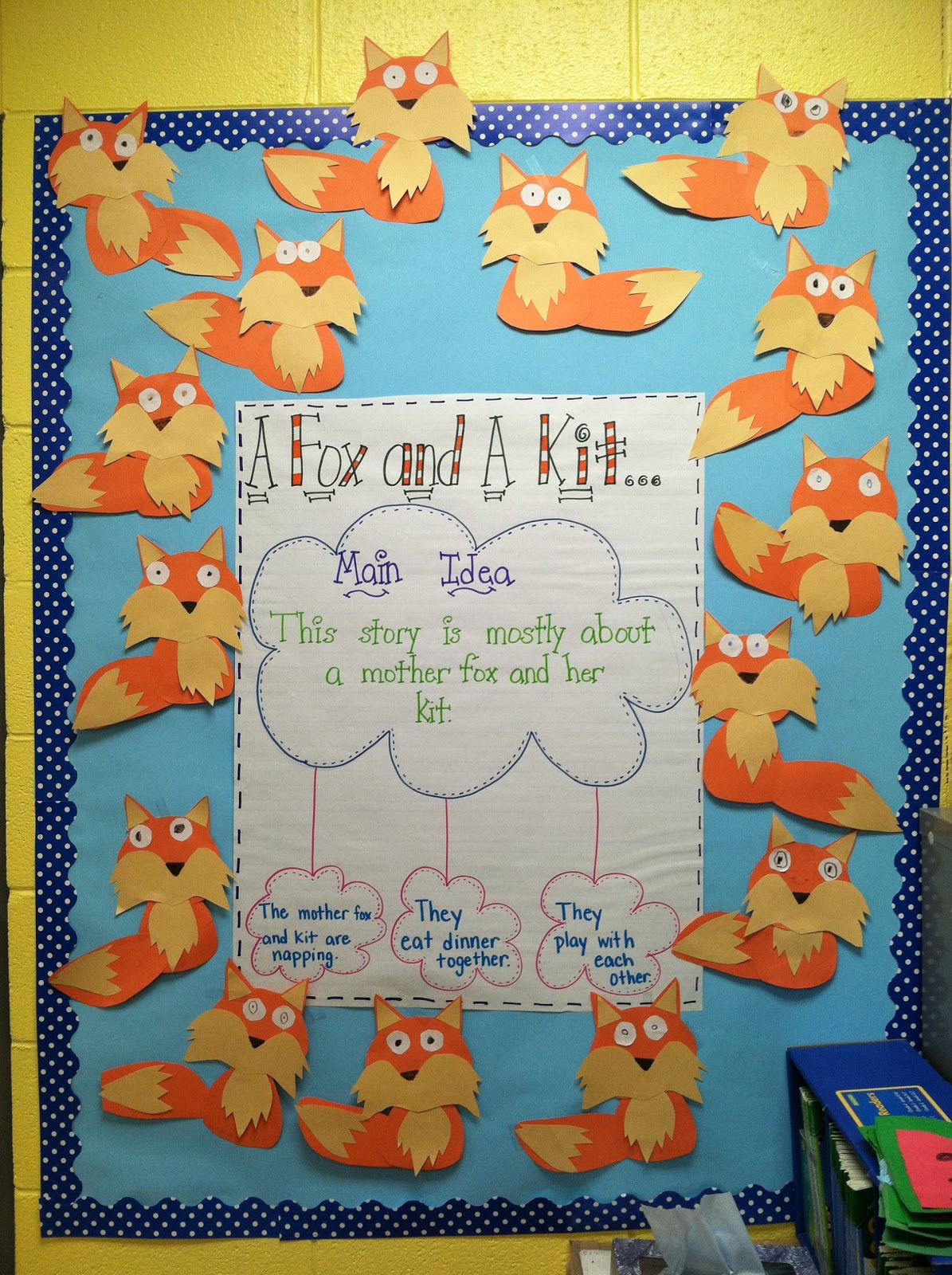 Life In First Grade A Fox And A Kit Scarecrows And