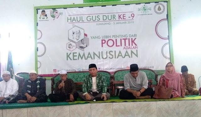 Peringatan Haul Gus Dur yang ke-9 di Aula PCNU Lumajang
