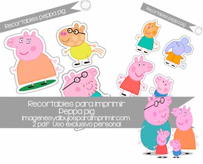 recortable infantil de peppa pig