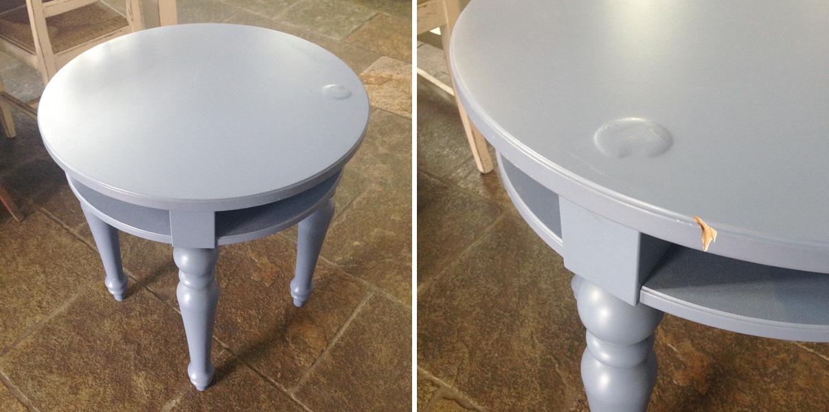 Restyling di un tavolino ikea shabby chic interiors for Specchio da tavolo ikea
