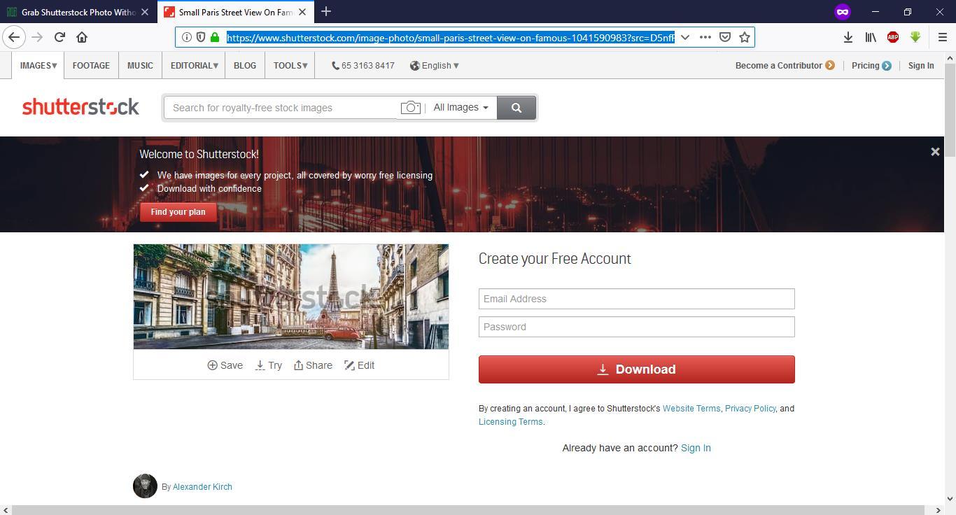 Cara Download Gambar Shutterstock Tanpa Watermark HD Gratis