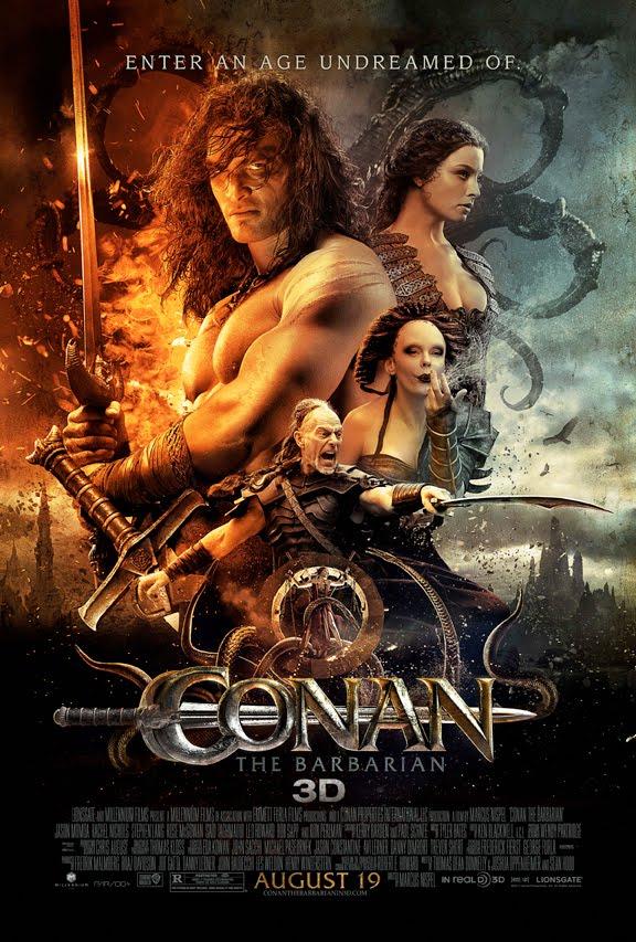 Poster de Conan el Bárbaro con Jason Momoa