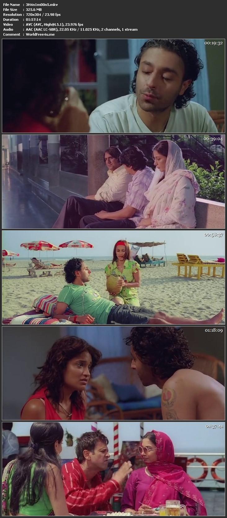 Screen Shot Of Honeymoon Travels Pvt. Ltd. 2007 300MB DVDRip 480P Full Hindi Movie Watch Online Free Download