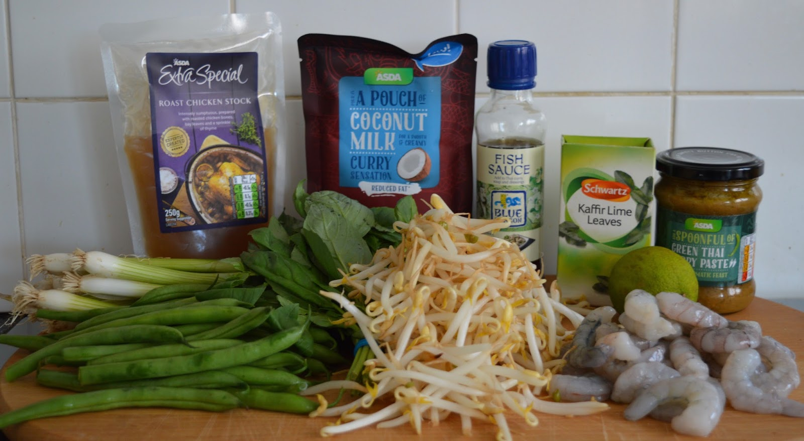 Super easy Thai Prawn Broth in less than 10 minutes - 330 kcals per portion