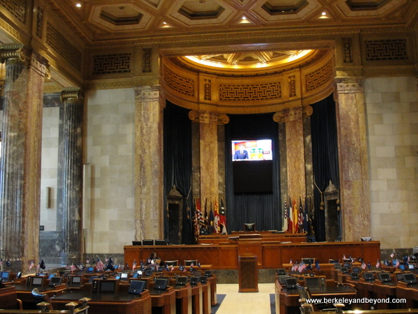 interior of Louisiana State Capitol in Baton Rouge, Louisiana