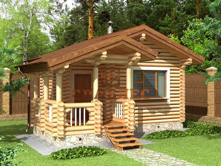 Beautiful simple wood house and log house design bahay ofw for Small wooden house design