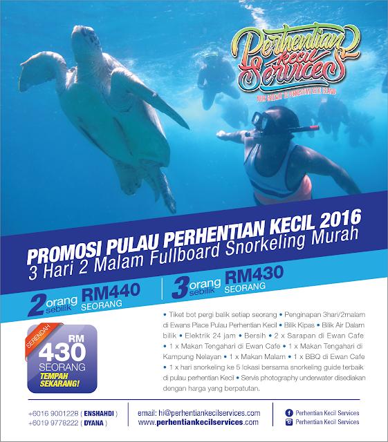 Pakej Pulau Perhentian 2016