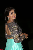 Nikki Galrani in Green Skirt  Top at Marakathamani music launch ~  Exclusive (115).JPG