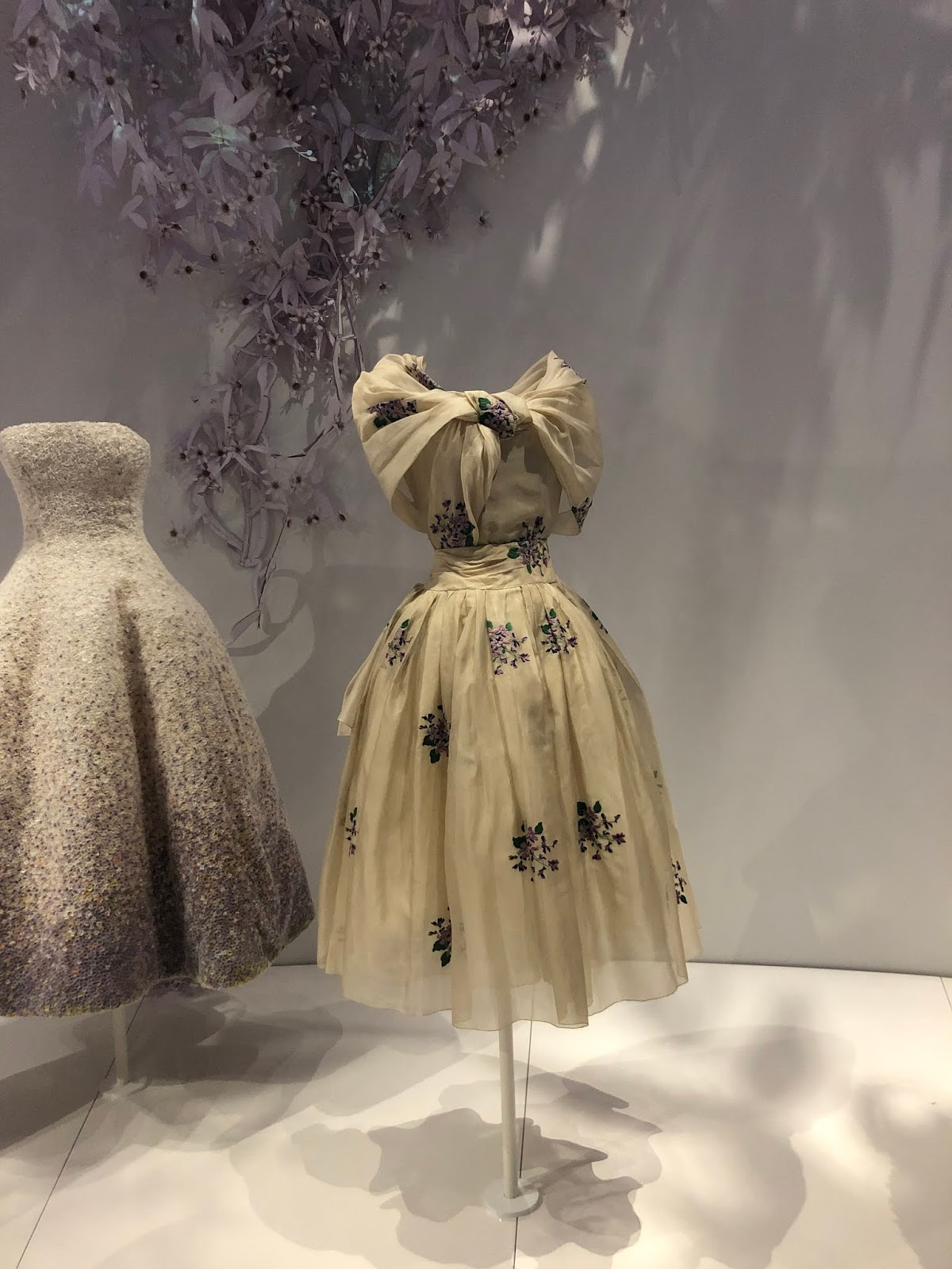 christian dior exhibition v and a flower dress