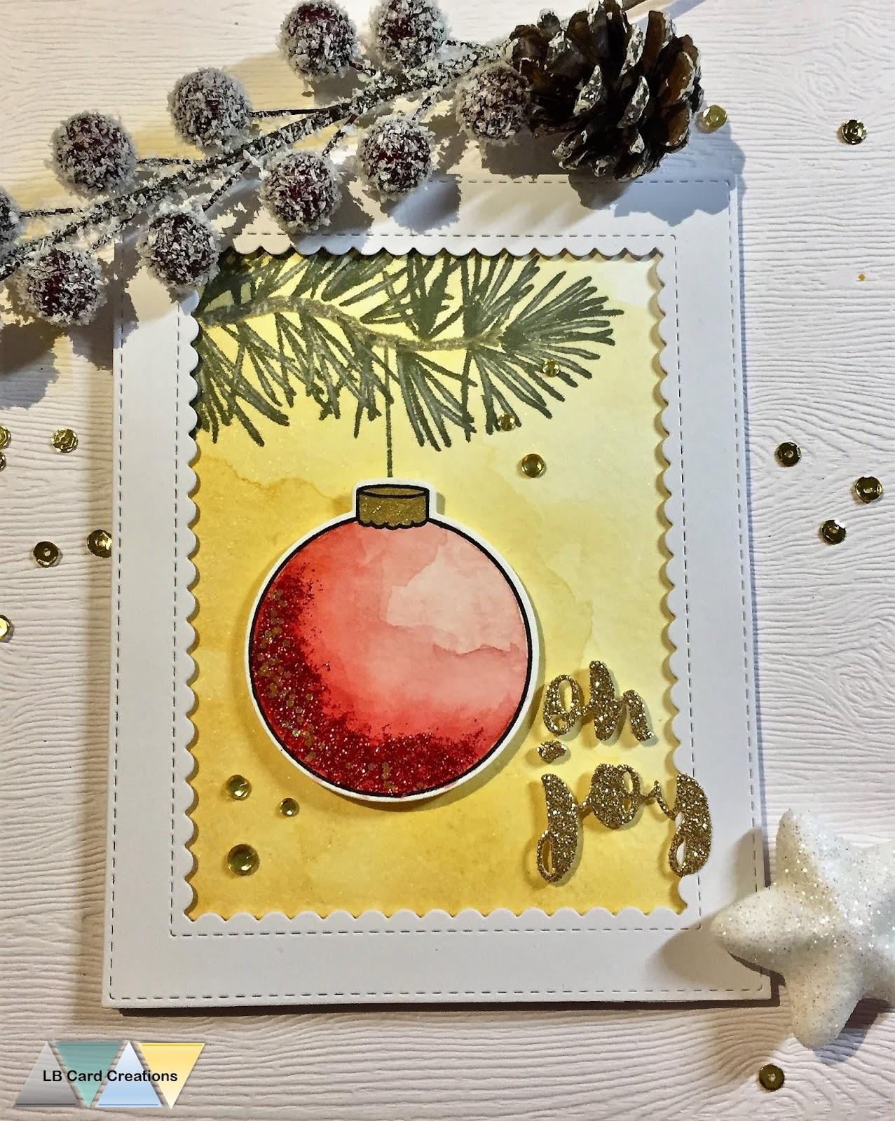 LB Card Creations: Christmas Card #13   Mama Elephant