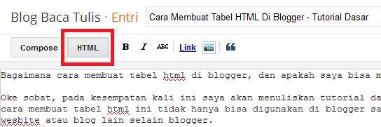 Cara Membuat Tabel HTML Di Blogger - Tutorial Dasar