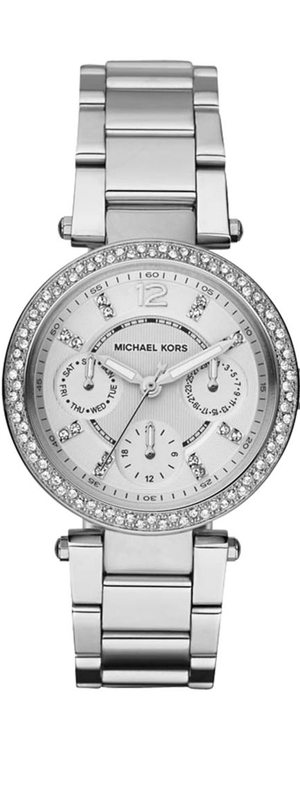 Michael Kors Parker Pavé Stainless Steel Chronograph Bracelet Watch
