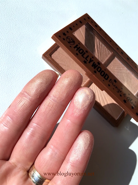 w7 hollywood bronze & glow kontür paleti swatch
