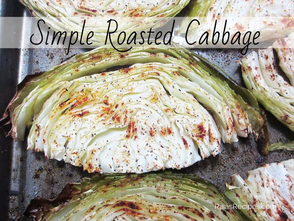Simple Roasted Cabbage by RaiasRecipes.com