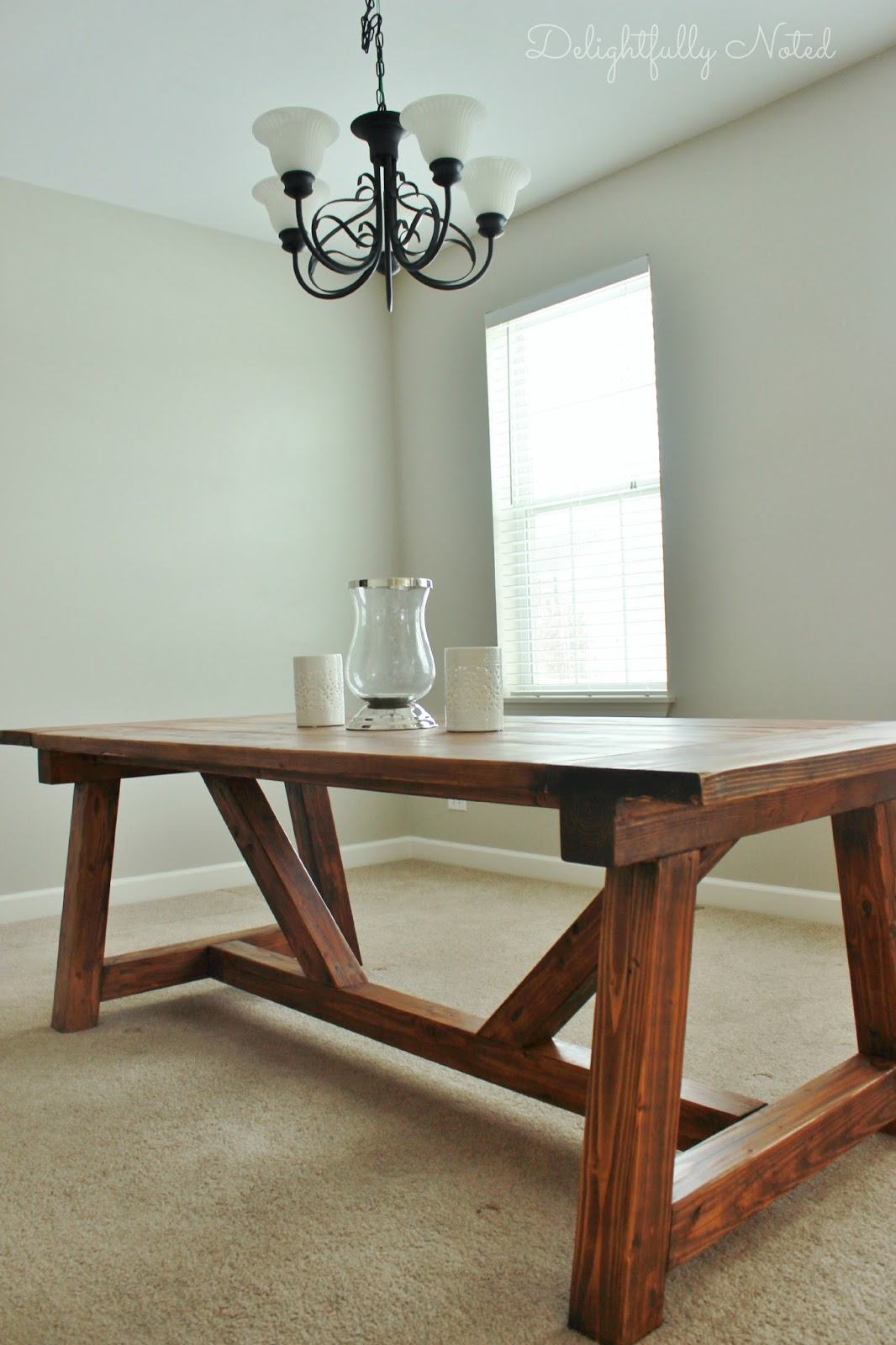 Make Your Own Rustic Kitchen Table