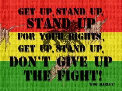 Afbeeldingen van Bob Marley Get Up Stand Up