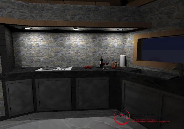 kuchnia w kamieniu