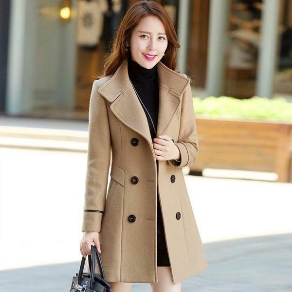 Kiểu áo khoác dạ nữ cao cấp nhất hiện nay