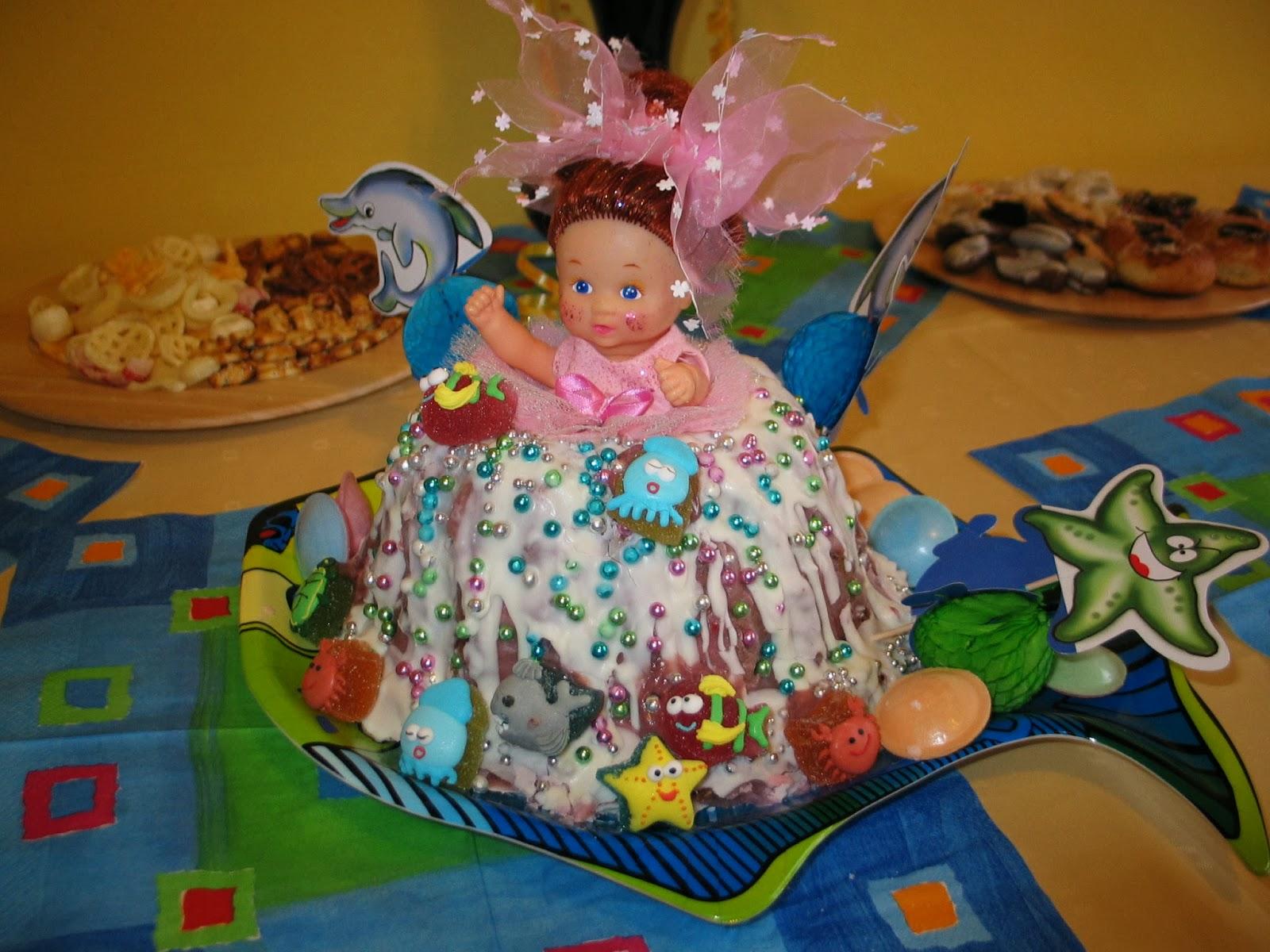 Holčičí narozeninový dort k sedmým narozeninám