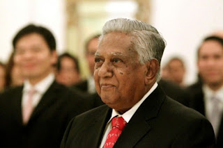 Singapore Former President S.R. Nathan's Favourite Tamil Song