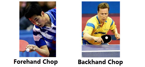Backhand and Forehand Chop