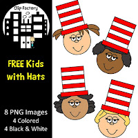 Clip Art Kids in Hats