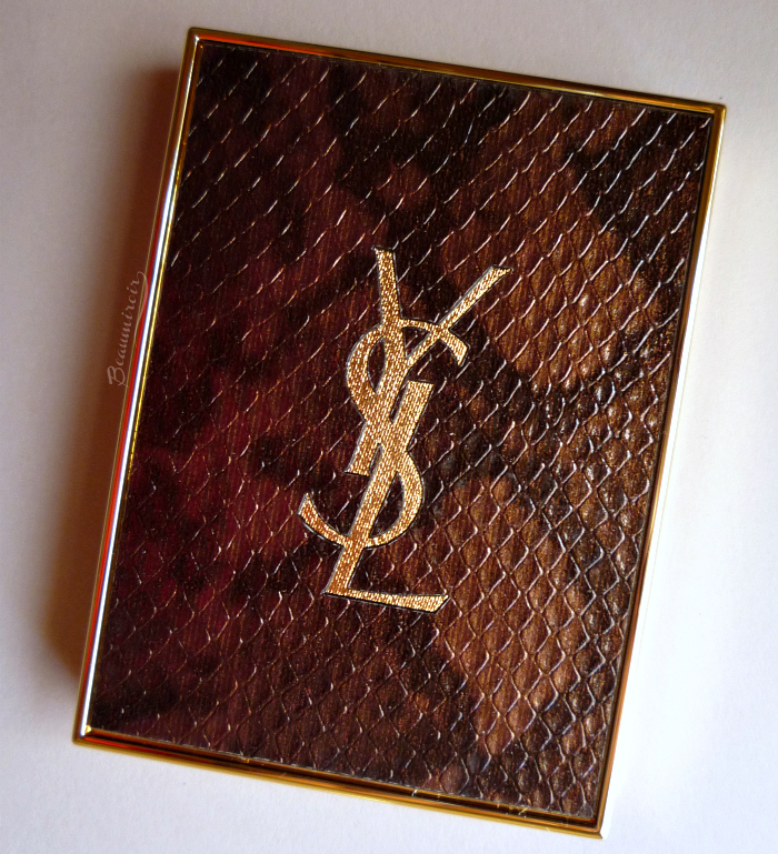 YSL Danger Seduction eyeshadow palette: snake print compact lid