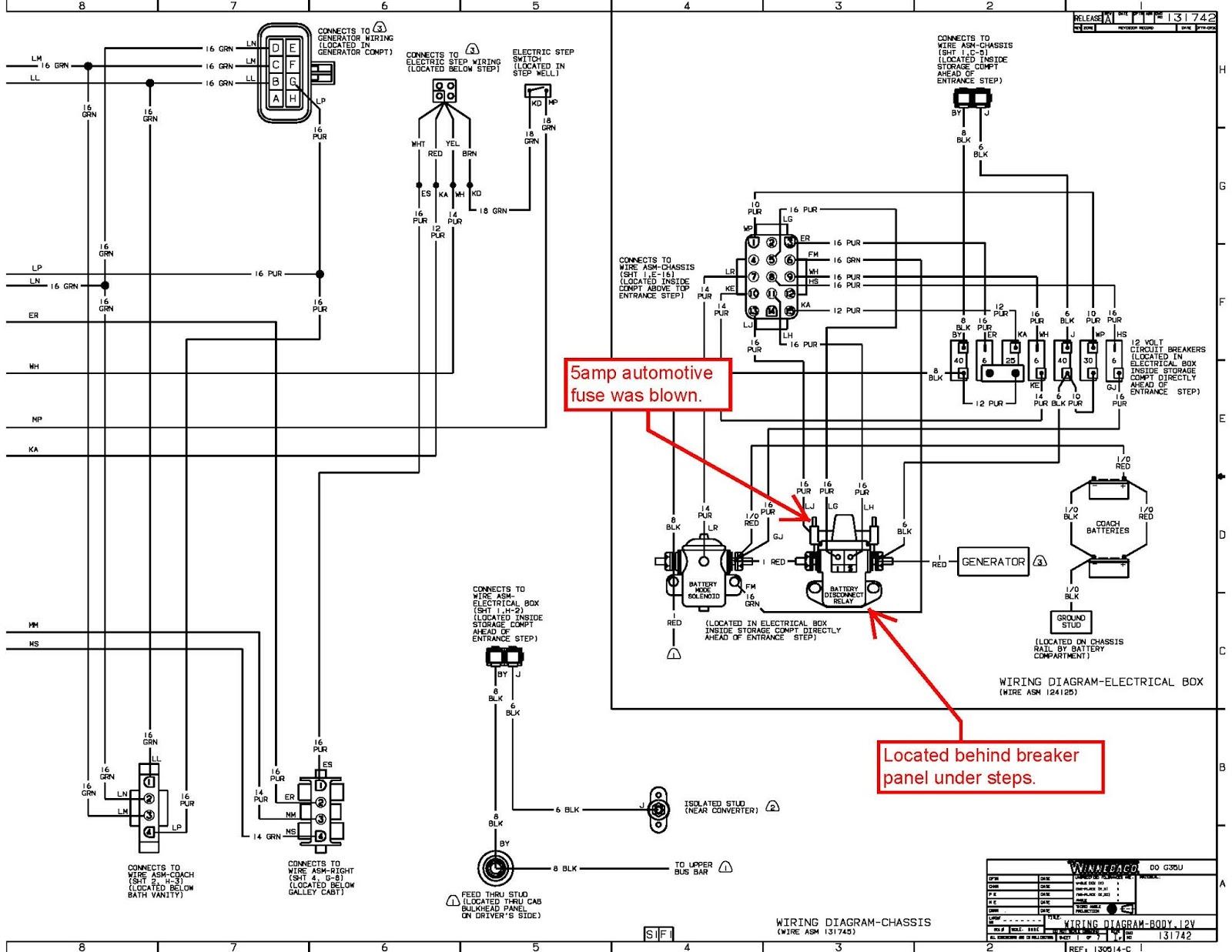 Winnebago Motorhome Wiring Diagram - Complete Wiring Schemas