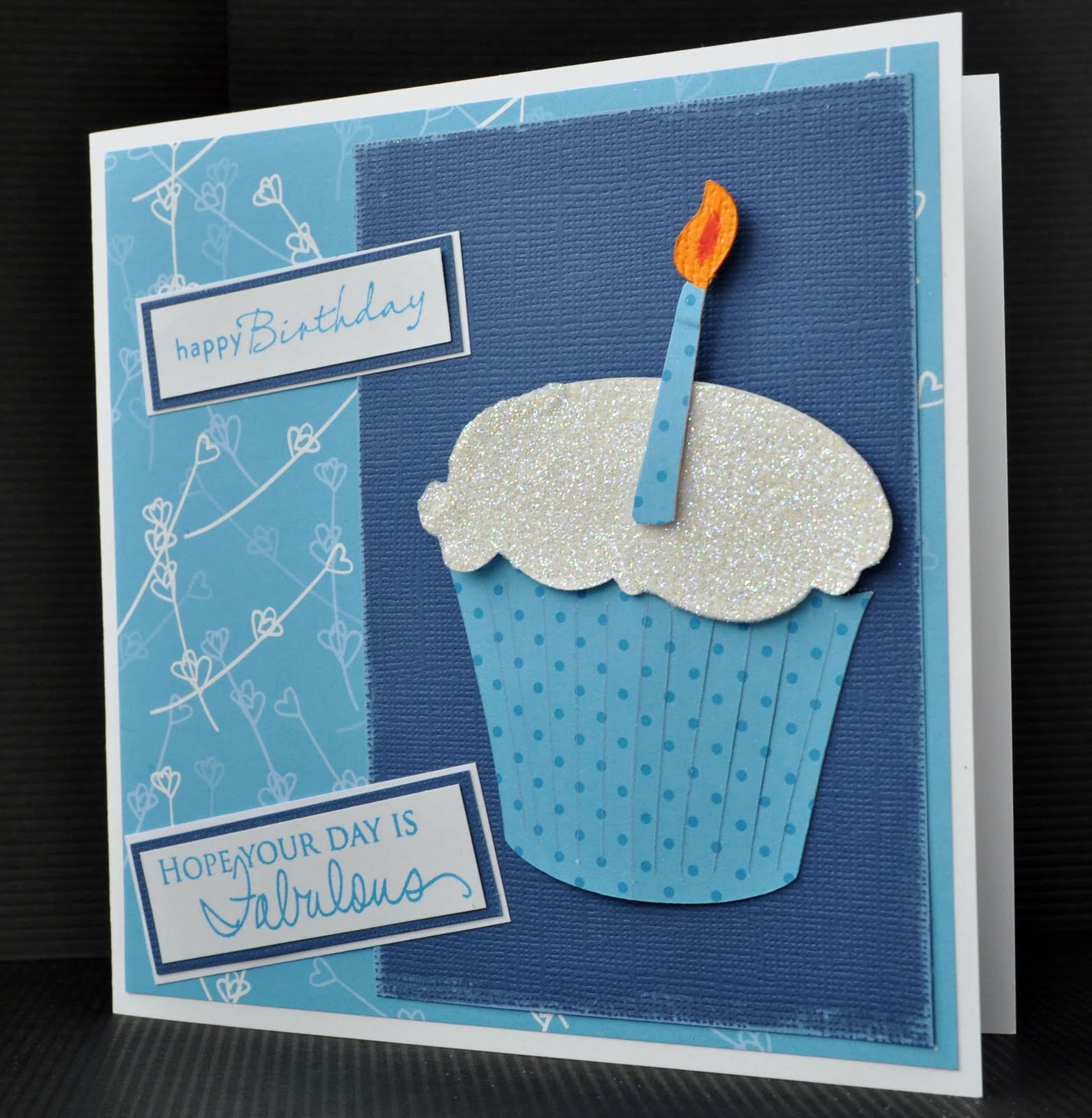 Inky Fingers: Cricut Birthday Card And May Old Stash Challenge