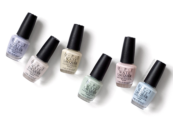 OPI Soft Shades Spring 2016 Nail Polish Collection Review Photos