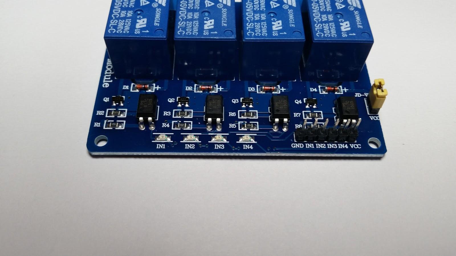 Big Boys Toys: JBtek 4 Channel Relay Module With 6 Pin