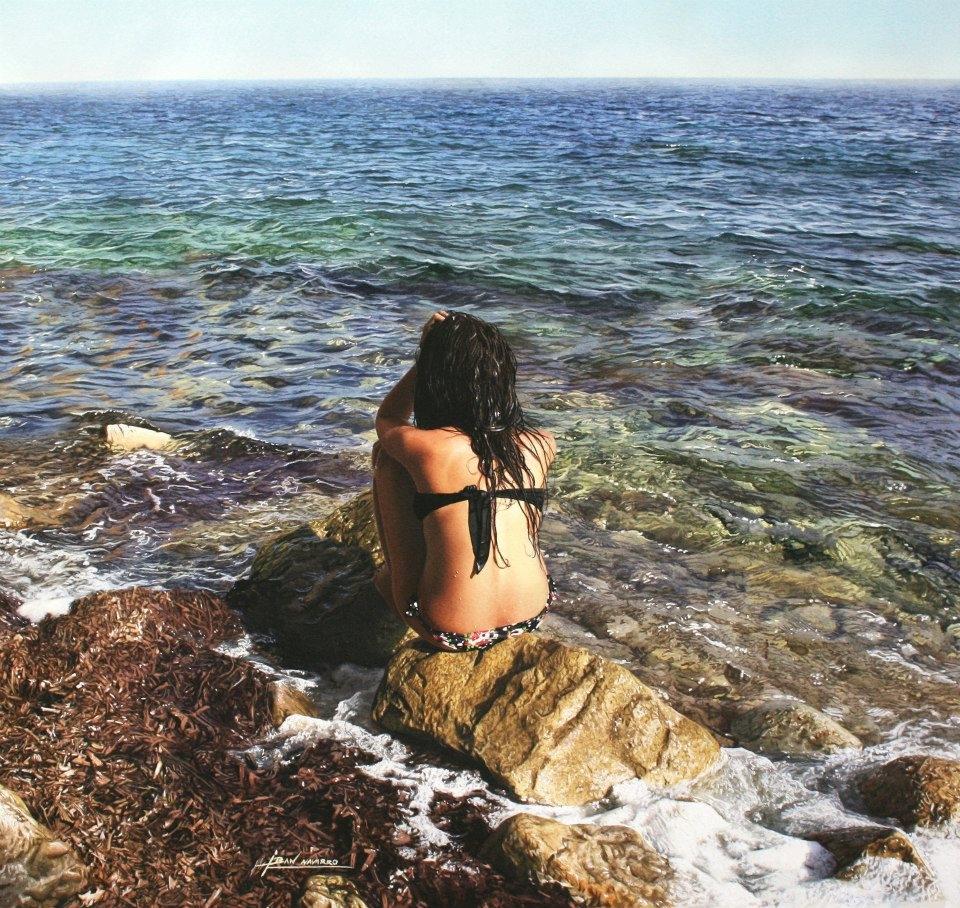 02-Iban-Navarro-Watercolour-Paintings-of-the-Seaside-that-look-like-Photographs-www-designstack-co
