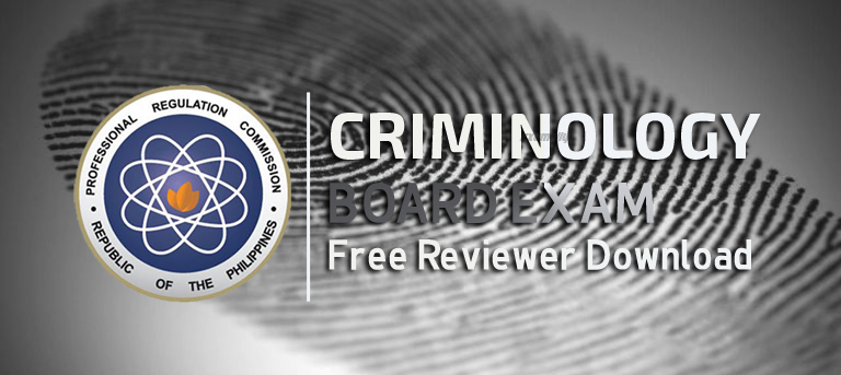 Must Have Criminologist Board Exam Reviewer Free Download