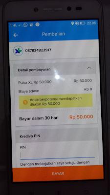pulsa gratis dari aplikasi kredivo