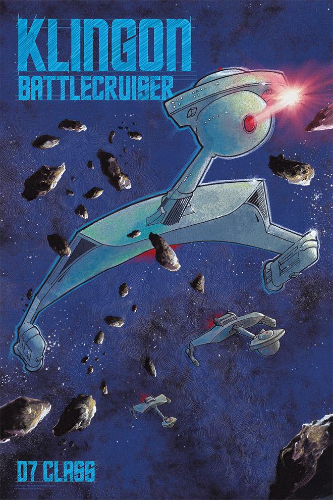 The Trek Collective Bye Bye Robot S Latest Starship Prints