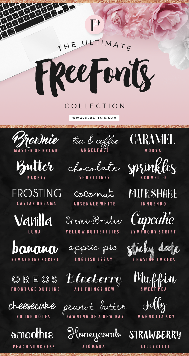 Download The Ultimate Free Fonts Collection ⋆ Blog Pixie